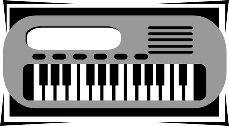 key board: Illustration of a key board buttons in the piano