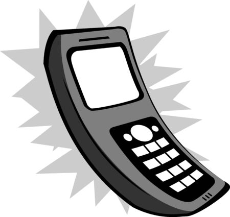 Illustration of a cordless telephone   illustration
