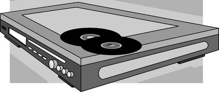 dvd player: DVD player with CD disk