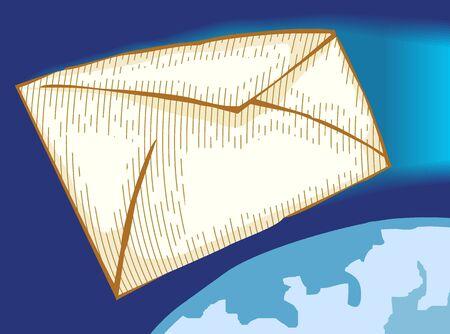 Illustration of envelopes for mail  Stock Photo