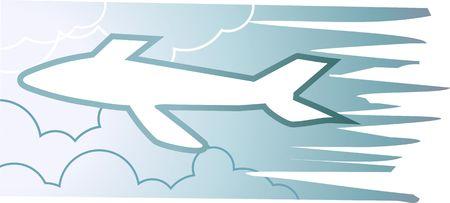 aero: Illustration of an aero plane on a board   Stock Photo