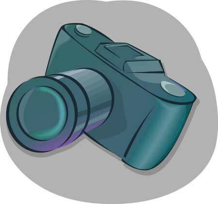 Illustration of film camera in a colour background  illustration