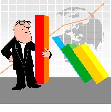 Illustration of manager holding graph blocks