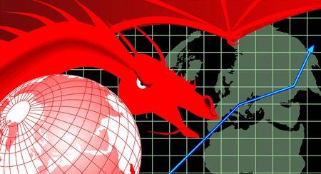 Illustration of a dragon graph   illustration