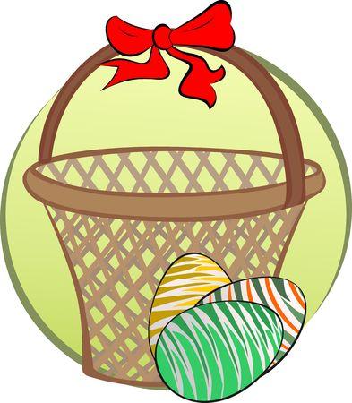 giftbasket: Afbeelding van eieren en cadeau mandje