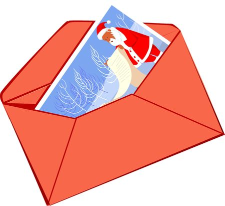 Illustration of envelopes with Christmas greeting  illustration
