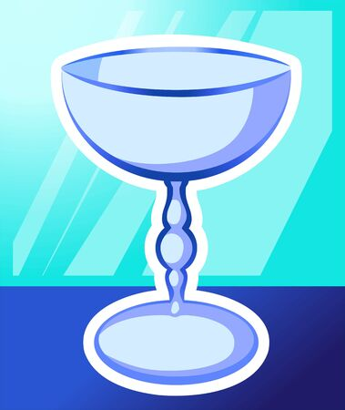 crucification: Illustration of bowl in green background  Stock Photo