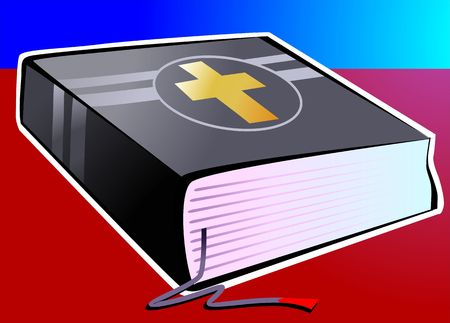holy book: Illustration of a bible  Stock Photo
