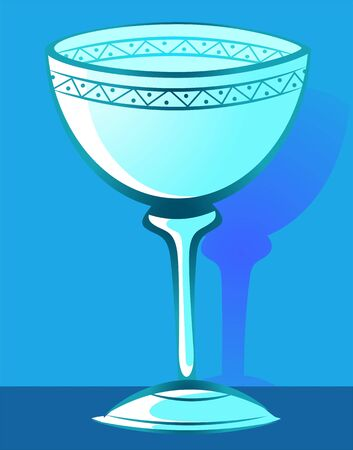 Illustration of bowl using for baptism  Stock Photo