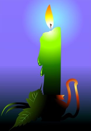 candlestand: Illustration of lighted candle