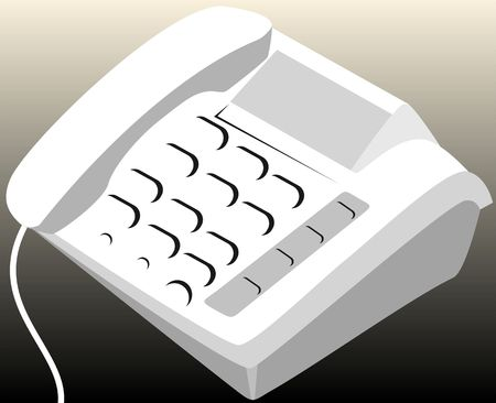 caller: Illustration of white coloured telephone with display