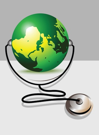 glob: Stethoscope and glob  Illustration