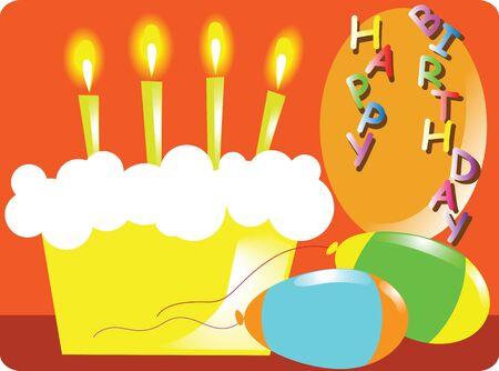 Birthday Christmas cake Stock Vector - 13190114