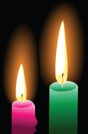 Candle light Stock Vector - 13187900