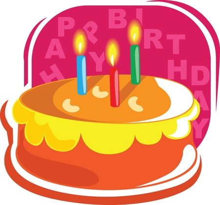 Birthday Christmas cake Stock Photo