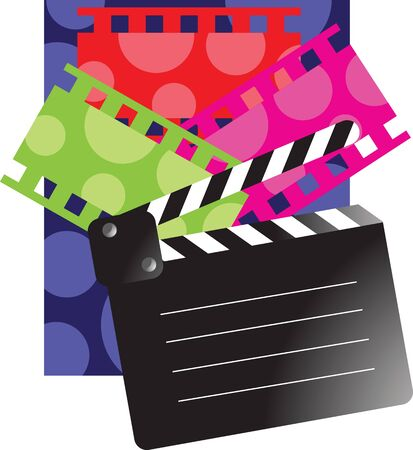 film role: Film reel and clap board