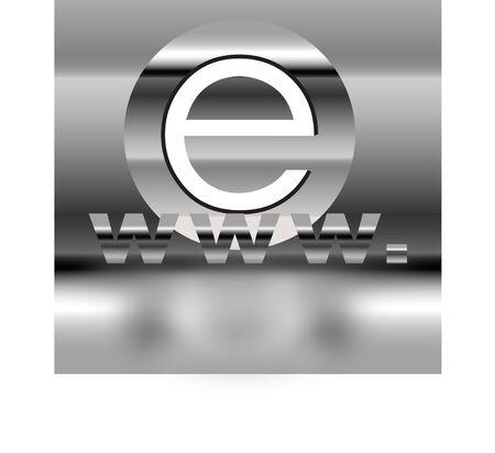 Internet symbol Stock Photo
