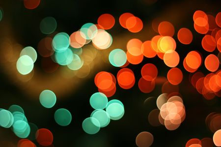 Abstract christmas background, light blur creating very nice bokeh, red and green photo