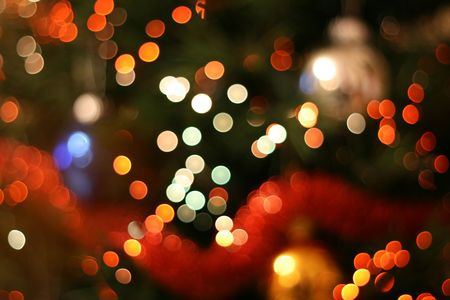 Abstract christmas background, light blur creating very nice bokeh, red white and orange Stock Photo - 626627