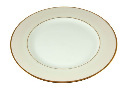 ivory: Ivory empty plate isolated on white