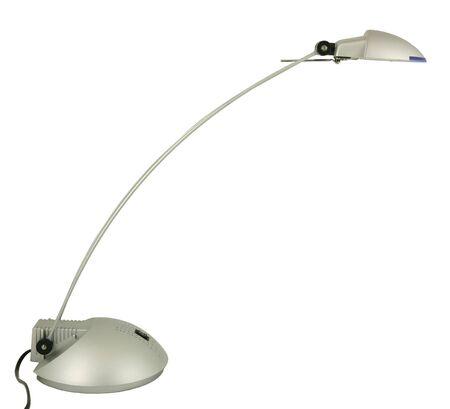 Halogen desk lamp isolated on white