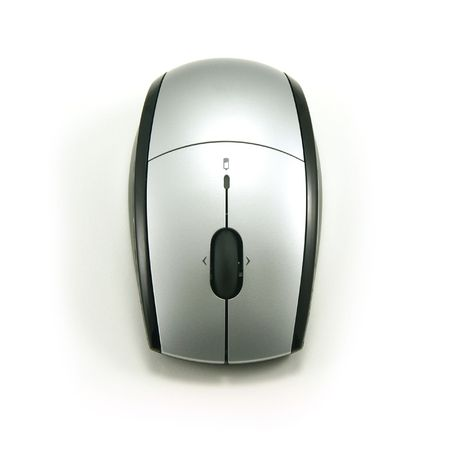 Cordless Optical Mouse, top view, isolated on white Stock Photo - 1253920