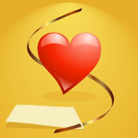 Big red heart background vector illustration, for valentine card. Vector