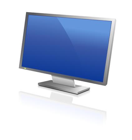 """flat screen"": wide computer flat screen, or flat tv, reflecting"