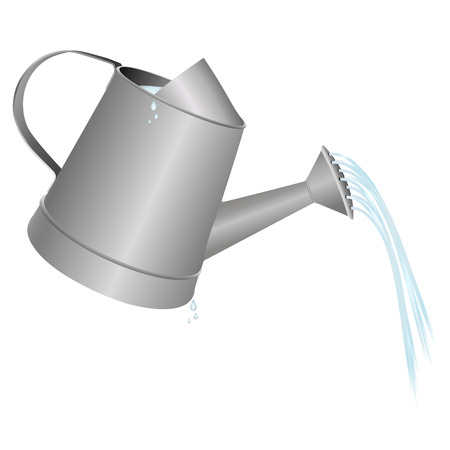 watering: watering can vector illustration