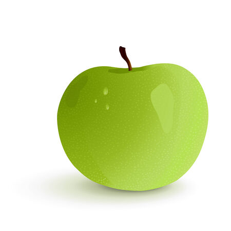 granny smith apple: Shining granny smith apple