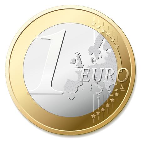 euro: One euro coin vector illustration Illustration