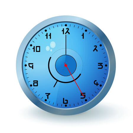 Blue wall clock Vector