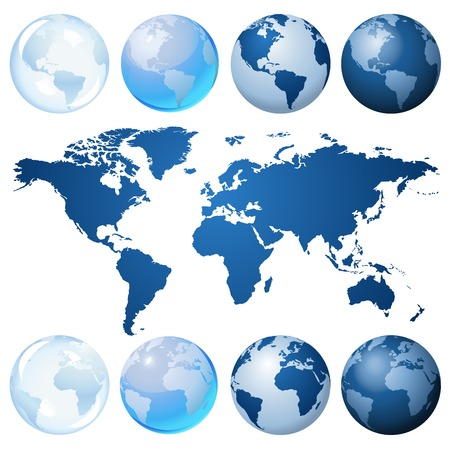 translucent: Blue globe kit