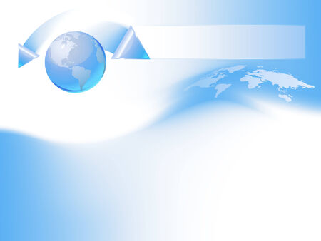 Blue globe template Vector