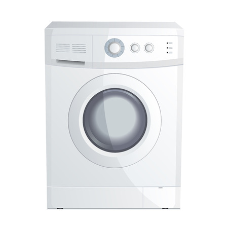laundry machine: Vector illustration of a realistic washing machine Illustration