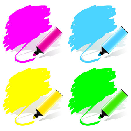 Highlighted labels by a marker in a vector set