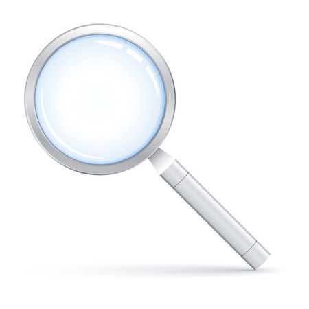 Vector illustration of Magnifying glass Illustration