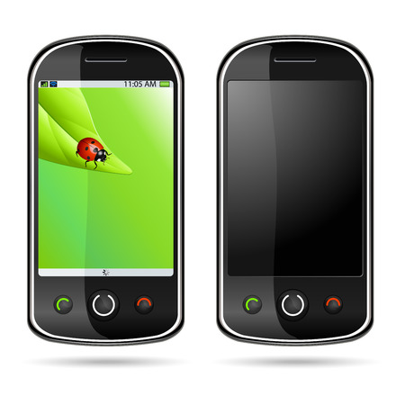 Vector illustration of a modern mobile phone Stock Vector - 4910186