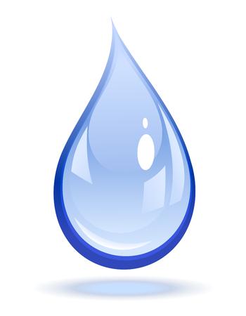 gota agua: Ilustraci�n vectorial de una gota de agua
