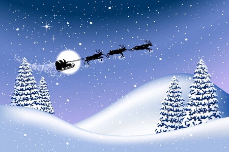Christmas background, all elements are editable on different layers Illustration