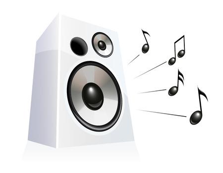 Speaker playing music Stock Vector - 5151127