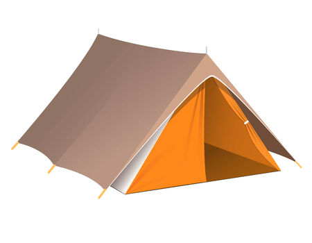 Vector illustration of a tent Illustration