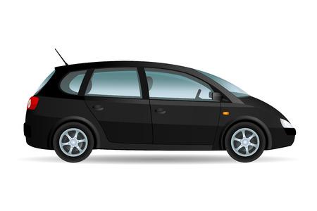 minivan: Vector illustration of a minivan. Original design, no brand. Illustration