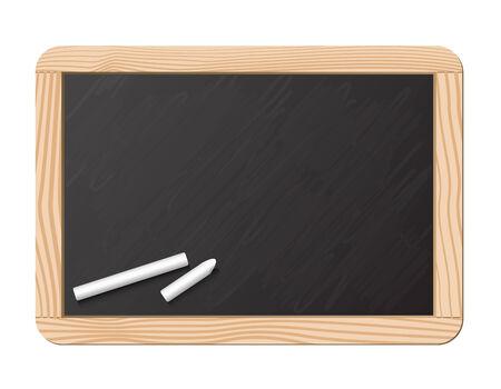Blackboard and chalk, realistic vector illustration Stock Vector - 5245424