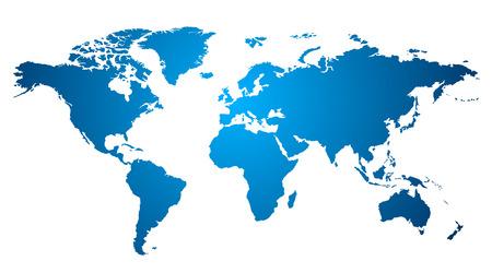 planisphere: Mappa del mondo su bianco Vettoriali