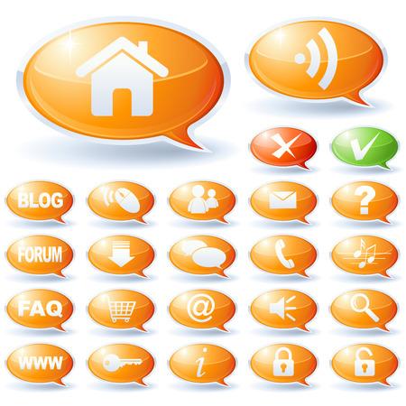 Internet speech bubbles collection Stock Vector - 5414185