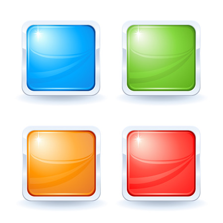Four shiny buttons Stock Vector - 5414182