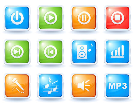 Music buttons collection Stock Vector - 5425530