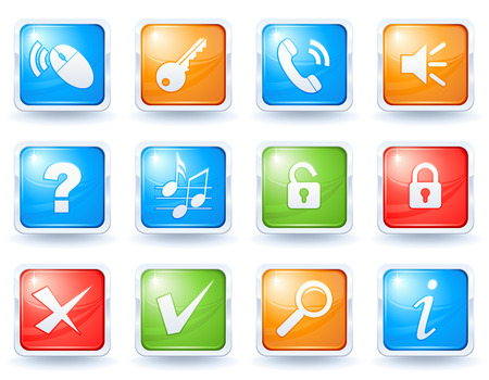 Internet buttons collection 2 Stock Vector - 5425528