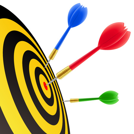 Darts hitting the target Stock Vector - 5671937
